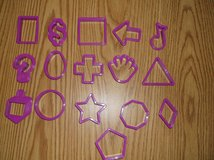16 piece Shapes cookie cutters in Chicago, Illinois