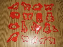 18 pc Animal cookie cutters in Chicago, Illinois