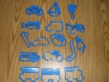 16 piece Sports and Vehicles cookie cutters in Chicago, Illinois