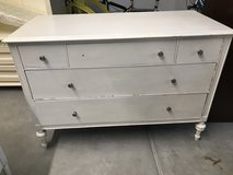 Nice Old Solid Wood White Dresser in Bolingbrook, Illinois