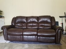 Center Hill Sofa & matching recliner brown in Bolingbrook, Illinois