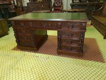 Large Green Man Carved Oak Desk free delivery others available in Lakenheath, UK