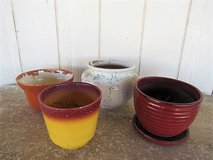 4 ceramic pots in Alamogordo, New Mexico