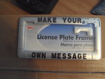 license plate frame in Travis AFB, California
