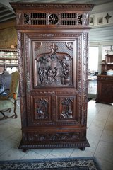 rare Brittany cabinet with ornate carvings in Stuttgart, GE