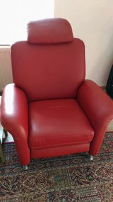 Red Leather Recliner in Ramstein, Germany
