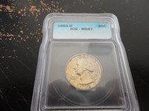 1963d ms 67 quarter icg pcgs lists this coin  at 900.00 in Clarksville, Tennessee