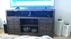 Ashley Furniture Rustic TV Console Cabinet in Leesville, Louisiana