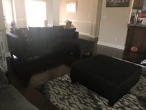 Sectional w/pillows/matching ottoman, and sitting chair in Byron, Georgia