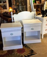 signed pair of chalk painted nightstands in Cherry Point, North Carolina