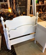 antique chalk painted twin bed with rails in Camp Lejeune, North Carolina