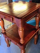 pair solid wood nightstand/ end tables in Cherry Point, North Carolina