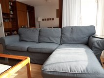 Ektorp three seater couch with chaise lounge in Stuttgart, GE