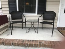 Outdoor chairs and small table in Camp Lejeune, North Carolina