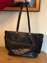 Genuine Black Leather Coach Bag REDUCED in Yorkville, Illinois