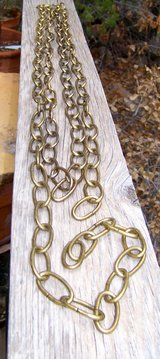 Brass Lamp CHAIN... 11+ feet ~ Cheaper than L's & HD Prices!! ~ New Old Stock in Alamogordo, New Mexico