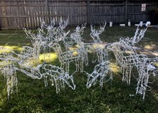 Lighted Standing Reindeer - Outdoor X-Mas Decor - $10.00 in Moody AFB, Georgia