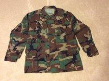 BDU Woodland Camouflage Pattern Shirt in Leesville, Louisiana