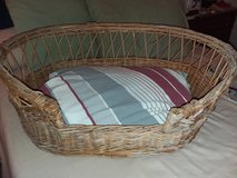 VINTAGE WICKER DOG BED M/L in 29 Palms, California