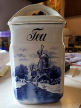 blue  tea canister INGE Germany in Bartlett, Illinois