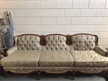 Beautiful vintage sage couch in Yucca Valley, California