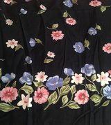 Pink & Blue flowers Apparel Fabric 3 1/2 yds in 29 Palms, California