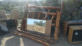 Perfect for your BnB! Wooden Bed Frame Custom in Yucca Valley, California