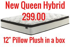 30 and 40 % off New queen hybrid pillow plush in a box in Wilmington, North Carolina