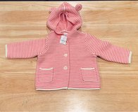 NEW WITH TAG - Baby Gap Baby Girl Sweater Coat with Hood. Size 6-12 Months in Bolingbrook, Illinois