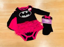 BRAND NEW - Baby Girl My First Superhero Outfit. Bat girl. Size 6/12 months in Bolingbrook, Illinois