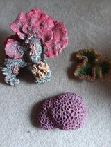 3 piece Artificial resin cast coral set in Yorkville, Illinois