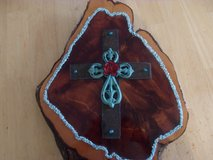 Wood and Turquoise Cross in Alamogordo, New Mexico