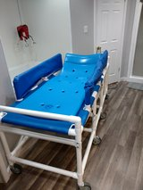 SHOWER BED FOR DISABLED.  Allows person to shower laying down.  can raise head for comfort. in Baytown, Texas