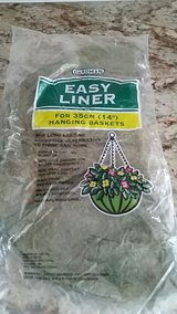 Liner for hanging basket in Houston, Texas