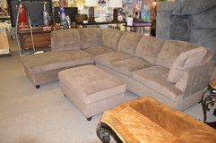New Sectional with Chaise End and Storage Ottoman in Fort Lewis, Washington