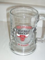 Chicago Bulls Glass Mug with 5 times NBA Champs Pewter Plaque in Naperville, Illinois