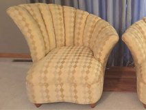 Gorgeous High Style Vintage Hollywood Regency  Channel Back Lounge Chair-Art Deco in Morris, Illinois