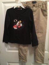 Girls black tshirt and RL beige pant in Naperville, Illinois