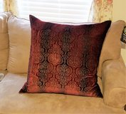 "Euro Sham Red Paisley Maroon 26"" x 26"" Cover Velvet Decor Pillow Bed Couch in Houston, Texas"