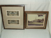Augusta National Golf Club House & Bank of Augusta $5 & $10 Framed in Lockport, Illinois