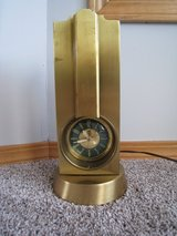 Stnola Lamps Art Deco Tower Clock & TV Lamp Lanshire Clock Movement USA Made in Naperville, Illinois