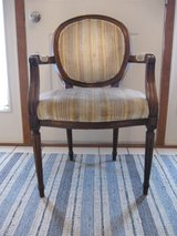 Vintage 1930 French Oval Back Armchair in Joliet, Illinois