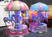 LED Light Merry-Go-Round Carousel Music Box Birthday Gift children's day gifts (New) in Moody AFB, Georgia