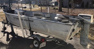 14 Ft Fishing Boat, Motor, Trailer & Accessories in Chicago, Illinois