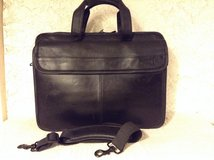 "Executive ""DELL"" laptop briefcase in genuine black leather multi organizer in Yucca Valley, California"