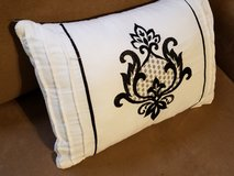 Better Homes & Garden White Black 12 x 18 Embroidered Throw Pillow Bed Couch in Houston, Texas