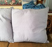 "Decorative Gray Euro Sham 26"" x 26"" Textured Pillow Cover Decor Throw Bed Couch in Houston, Texas"