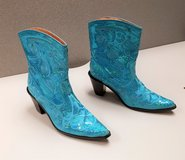 NEW Helen's Heart sz 7 Sequin Boots Blue  Embroidered Cowboy Western rodeo Turquoise in Houston, Texas