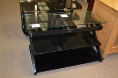 Black & Glass TV Stand in Fort Lewis, Washington