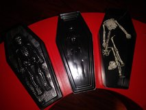 coffins with skeletons in Spring, Texas